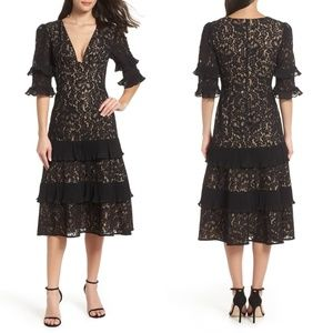 KEEPSAKE THE LABEL Timeless Black Lace Midi Dress